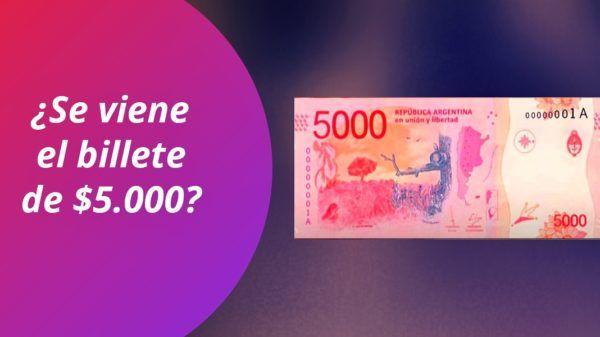 Billete 5000 pesos Argentina