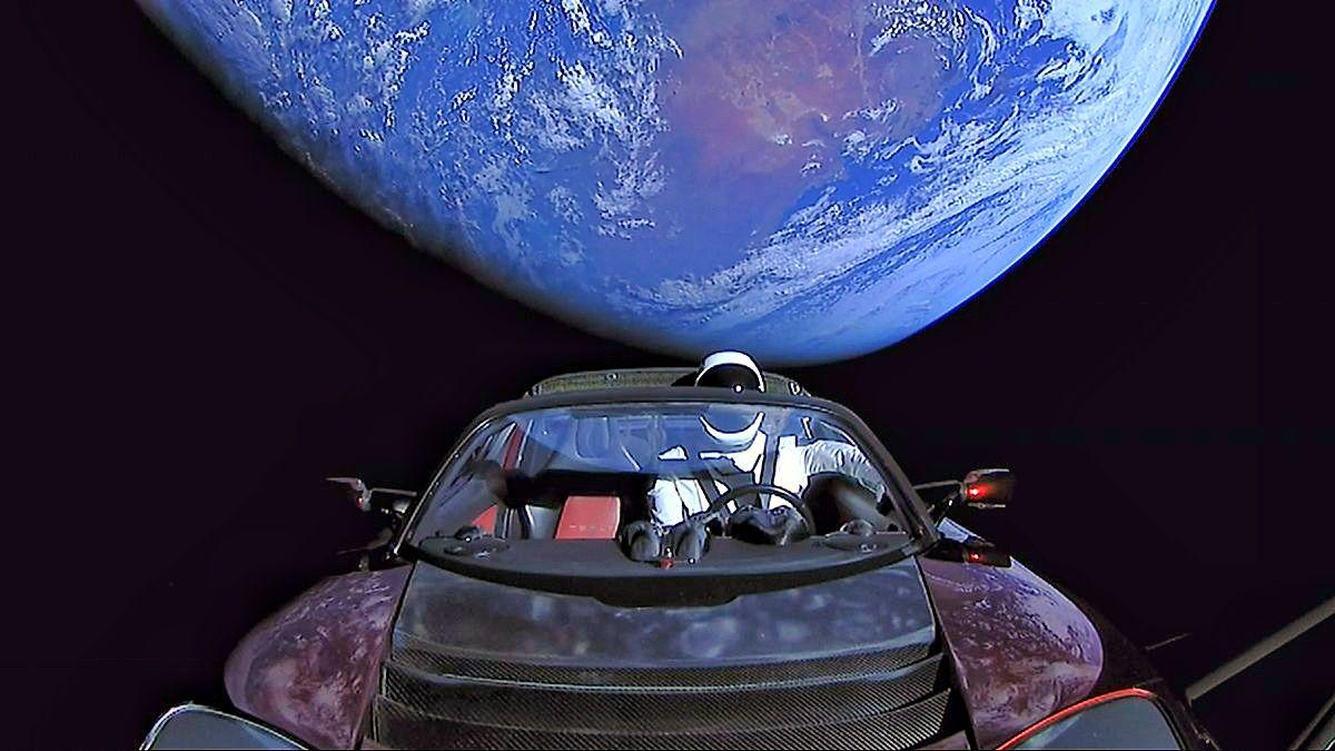Tesla Roadster starman live stream space x