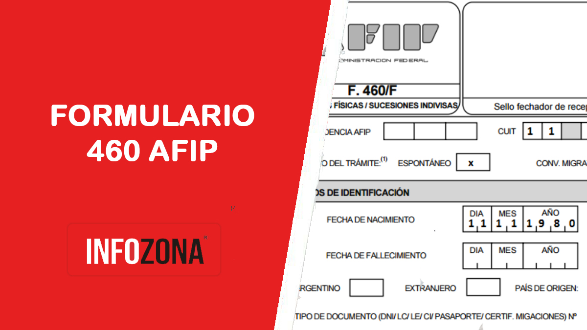 Formulario 460 AFIP