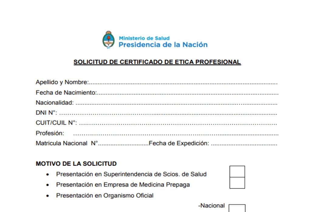 Modelo de certificado de ética profesional
