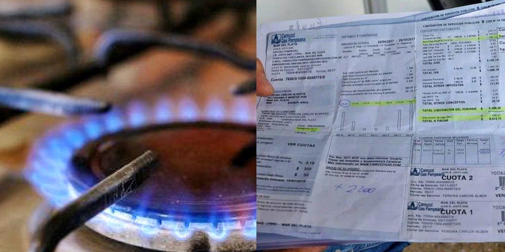 Aumento gas tarifa precios