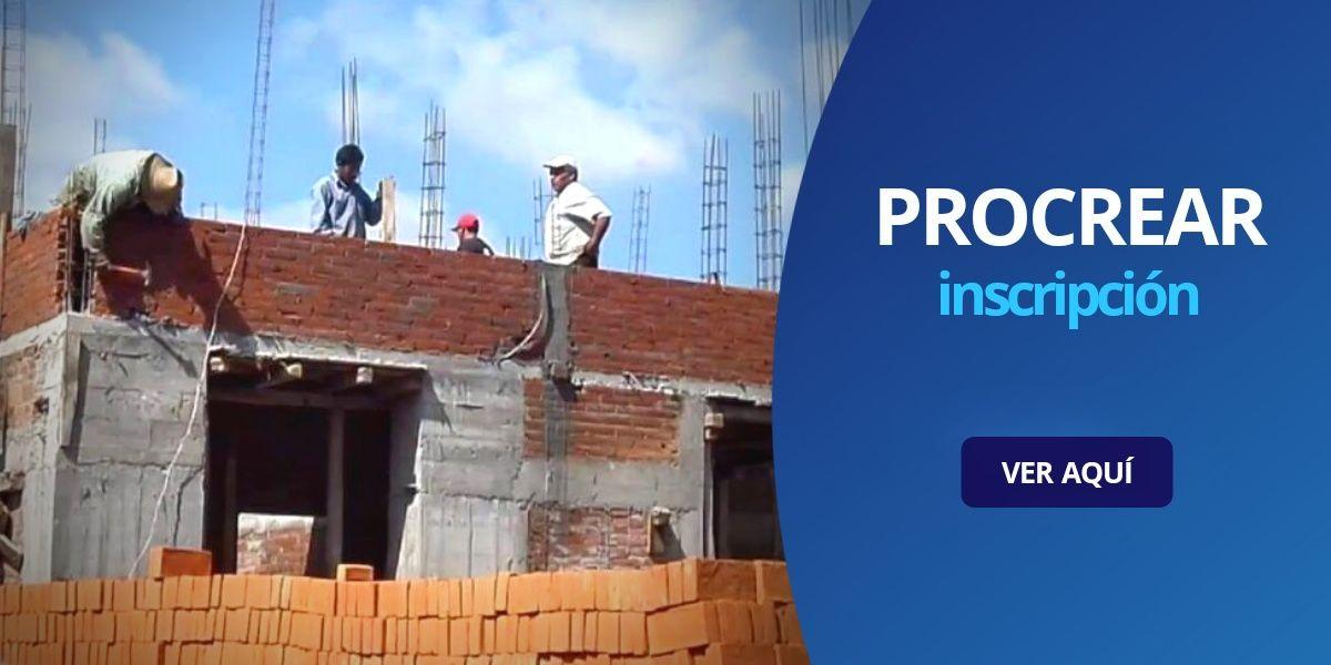 Procrear inscripción 2020 créditos construcción ampliación
