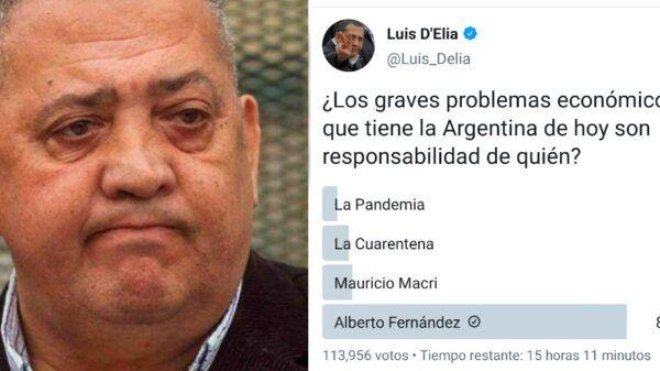 Luis Delia encuesta Twitter