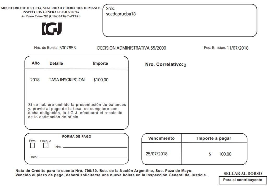 Cómo presentar el formulario IGJ