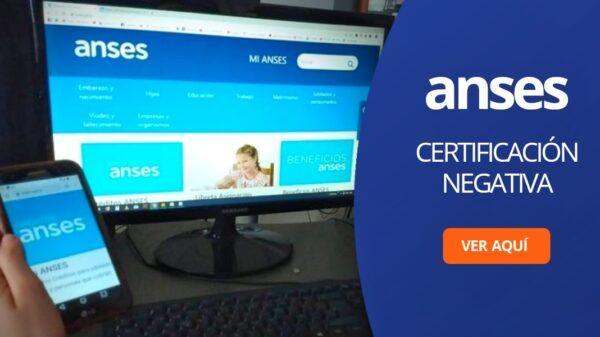Certificacion Negativa Anses