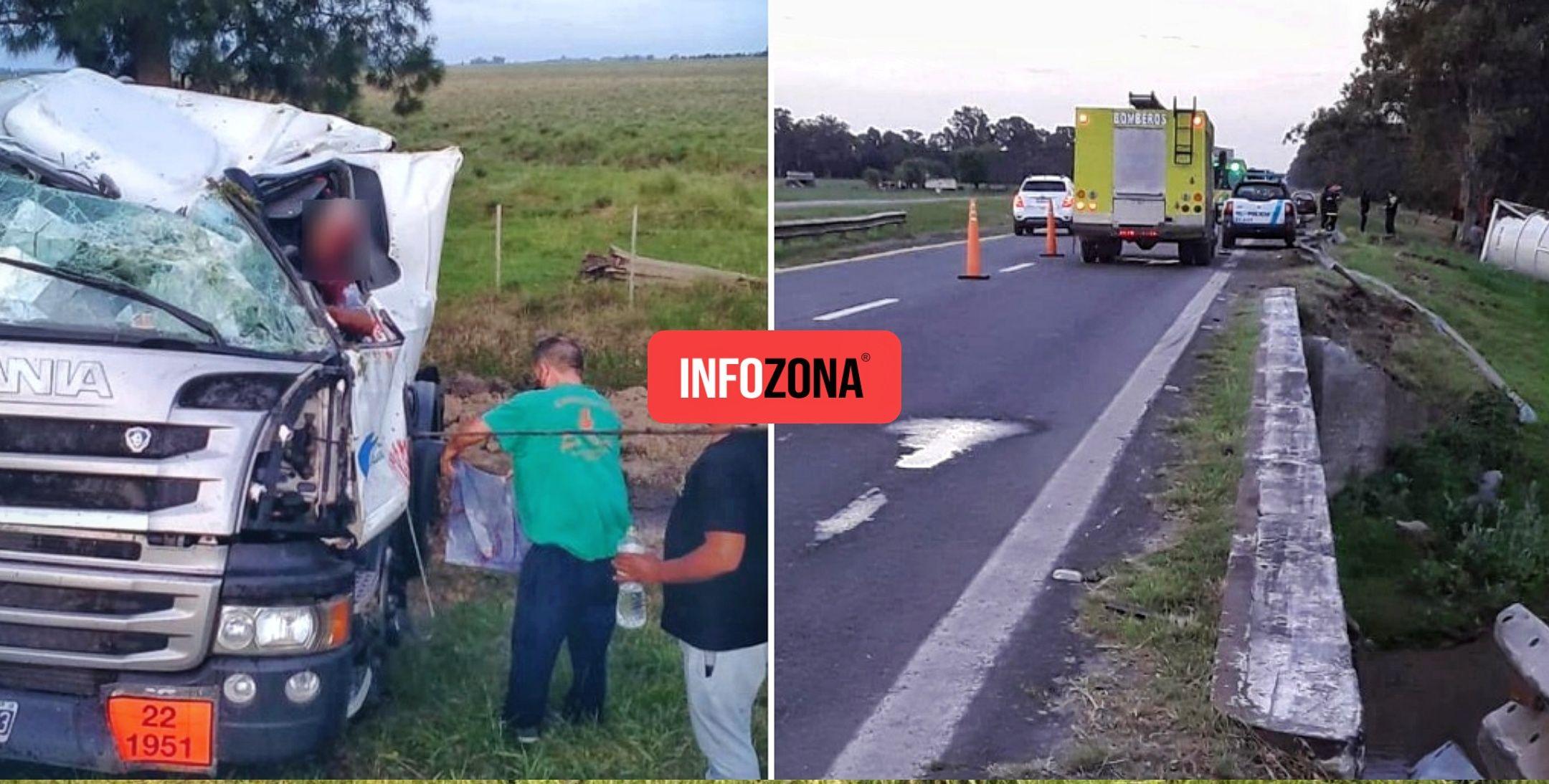 Accidente camión ruta 2
