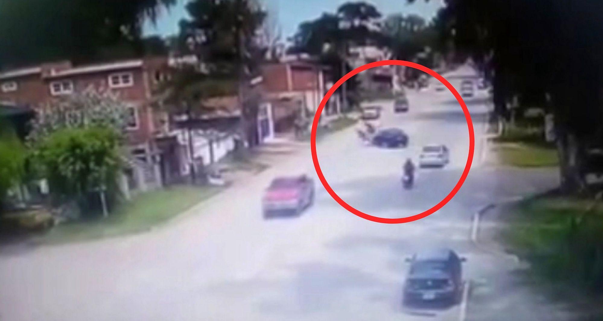 Accidente moto villa gesell