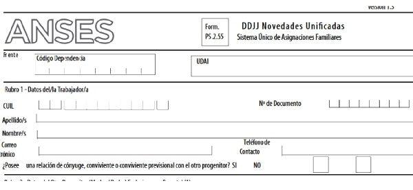 Cómo llenar el formulario de nacimiento de ANSES