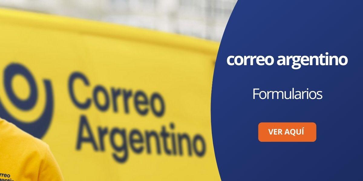 Correo Argentino formularios