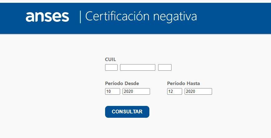 Cómo sacar la Certificación negativa de Anses