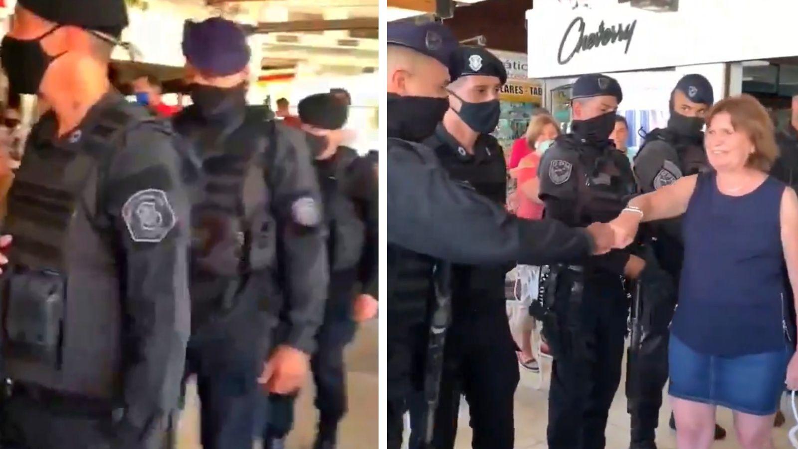 policias saludan patricia bullrich