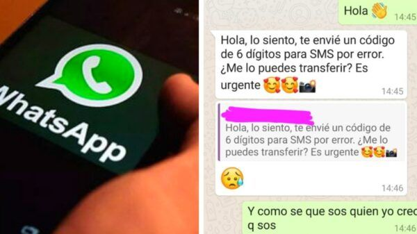 mensaje engañoso whatsapp