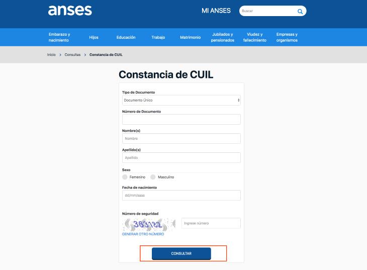 Cómo sacar la constancia de CUIL ANSES gratis por internet