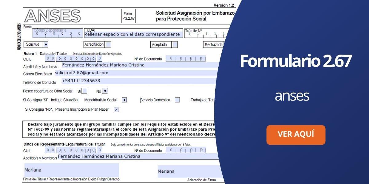 Formulario 267 ANSES