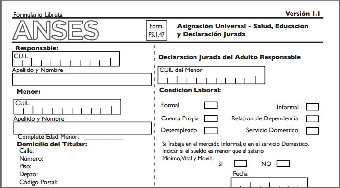 Cómo completar el formulario 147