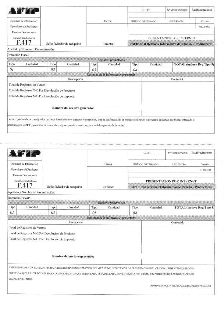 Cómo completar formulario 711 AFIP