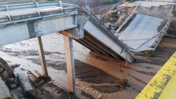puente caido ruta 40 mendoza