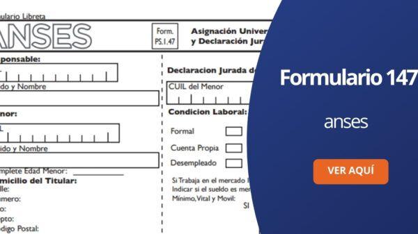 Formulario 147 ANSES