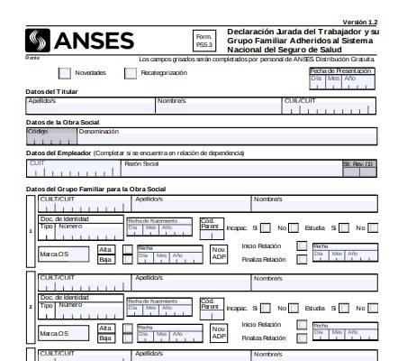 Cómo completar formulario 5.3 Anses