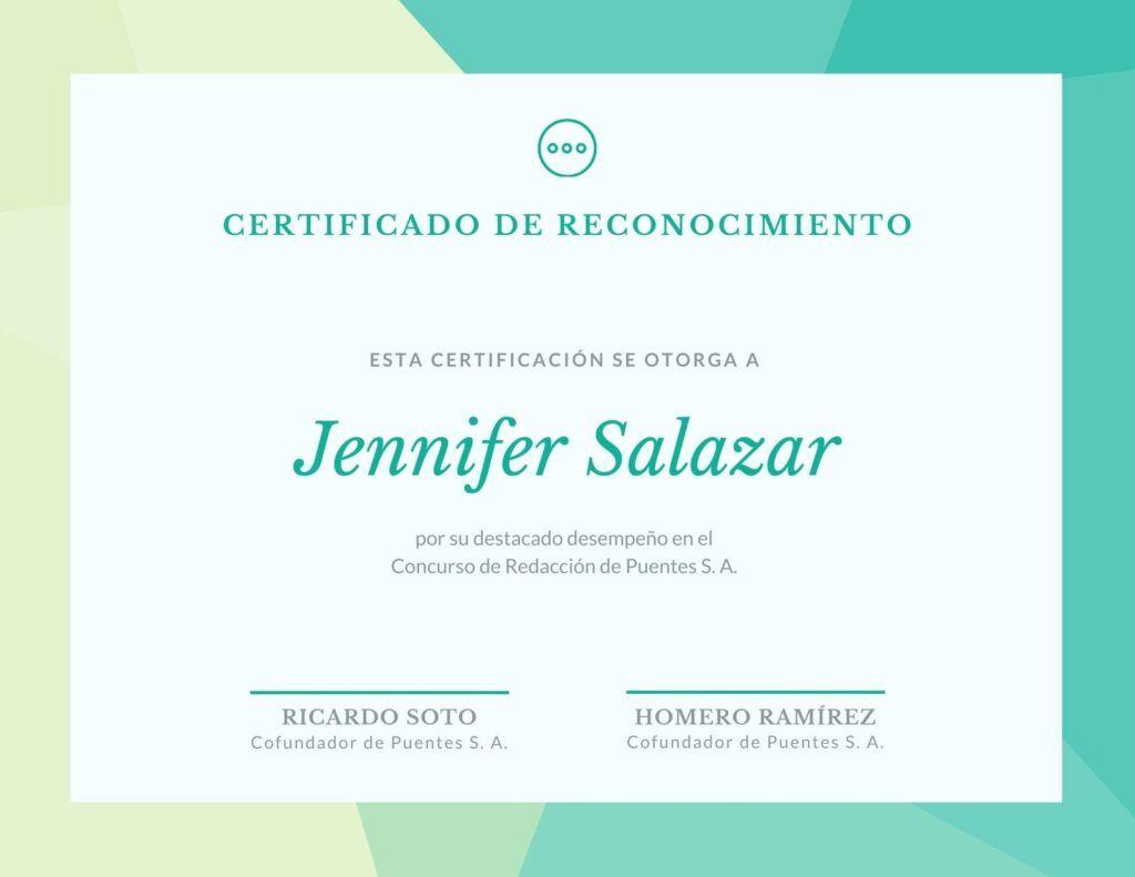Cómo hacer un certificado de reconocimiento para maestros en Canva