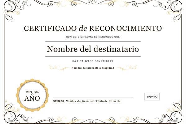 Qué es y para qué sirve el certificado de reconocimiento