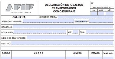 Qué es y para qué sirve el formulario OM 121