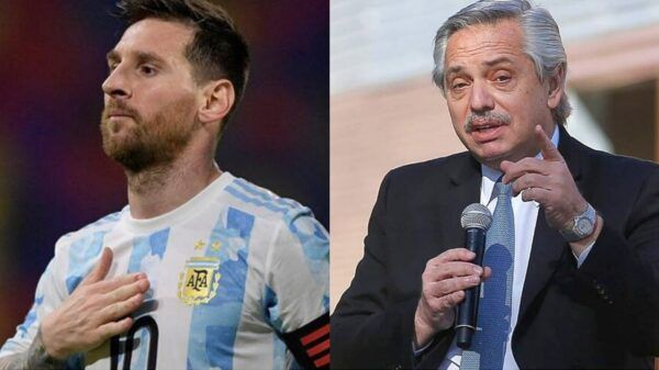 Messi Alberto Fernandez