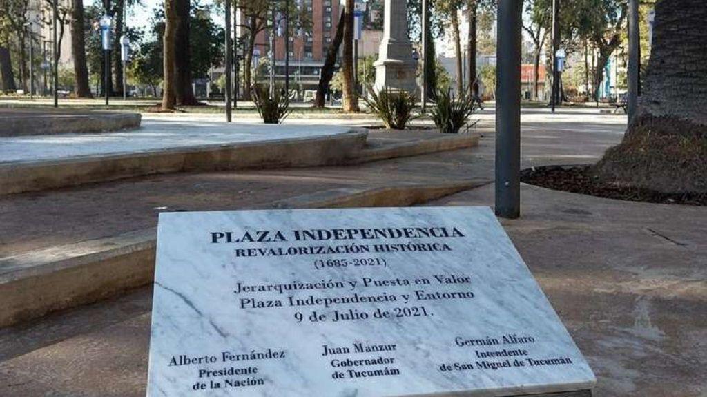 error ortografía placa Tucumán